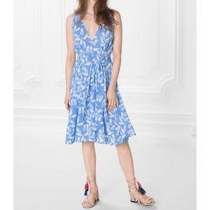 & Other Stories Pineapple Print V-Neck Dress